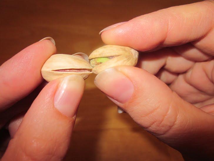 Opening pistachios