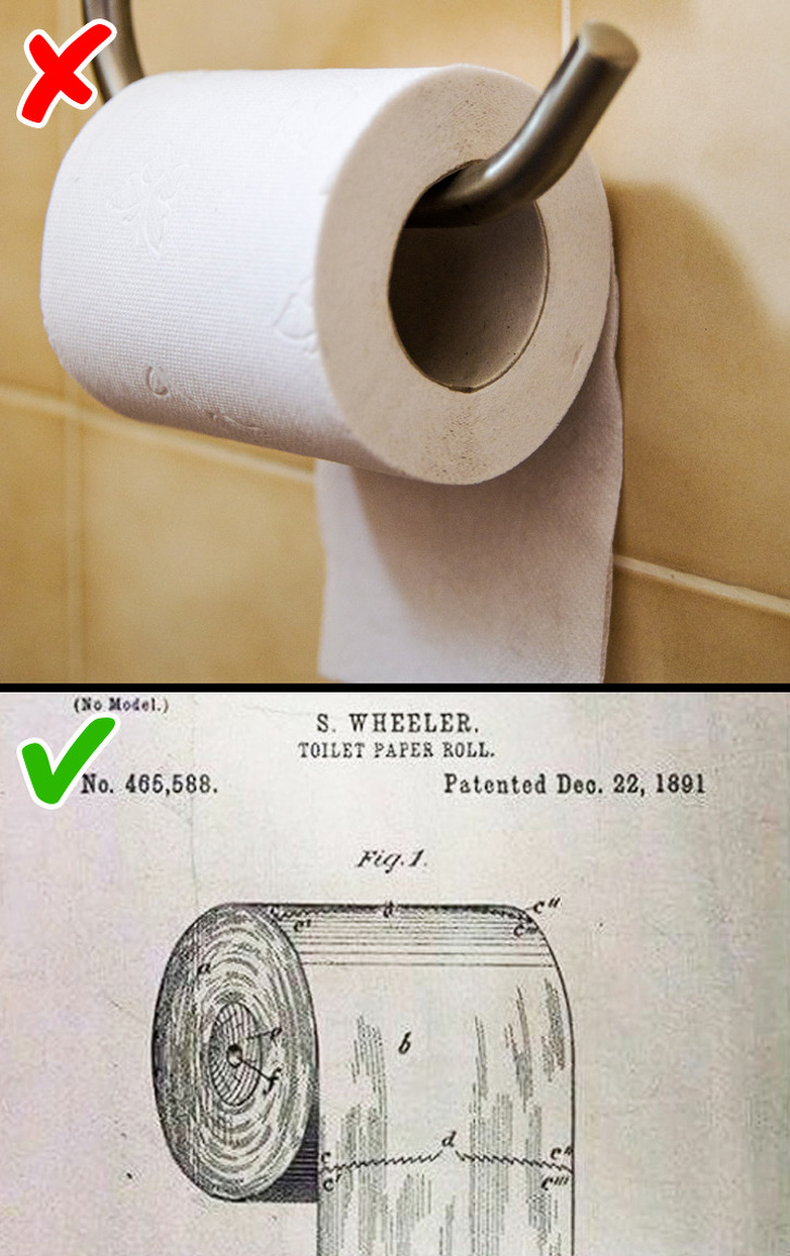 Putting toilet paper up